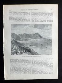 Cassell 1902 Antique Print. Victoria, Hong Kong, From the Chinese Mainland
